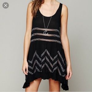Free people strip see though lace sexy skirt